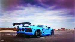 Lamborghini,liberty walk performance,blue shark