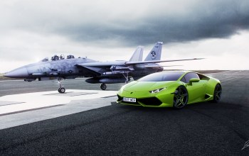 lp610-4,Lamborghini,fighter,supercar,runway,ламборджини