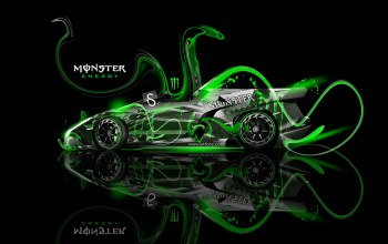 Lamborghini,roadster,fantasy,Monster energy,plastic,Tony kokhan