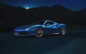 supercar,Spider,488,blue
