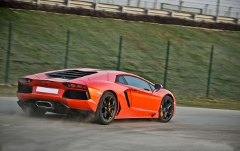 Lamborghini,orange,авентадор