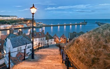 north yorkshire,Ступени,whitby,дома