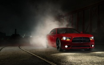 Muscle,dodge,adrenaline,Red,car,smoke,charger