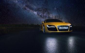 Road,star,reflection,yellow,space,supercar
