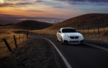 wheels,mountains,san jose,car,m235i,Sunset,Bmw,garde,sunrise