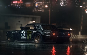 dark,gymkhana,rear,hoonicorn,ken block,845 hp,rtr,1965