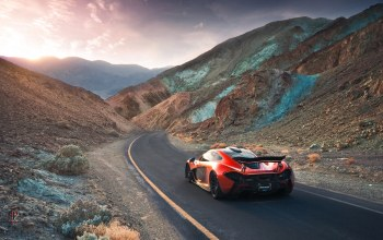 Exotic,sand,orange,Mclaren,extra,rear,hypercar,supercar,death,valley,volcano