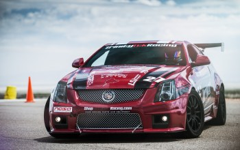 cts-v,racing,Red,cadillac