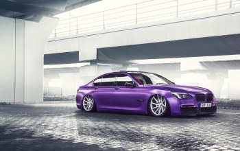 car,Bmw,Purple,low,Color,german,wheels,7 series