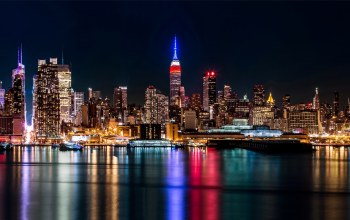 new york,skyscrapers,manhattan,brooklyn,lights