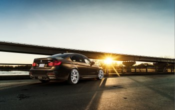 Sunset,brown,M3,rear,sky,car,Bmw,f80