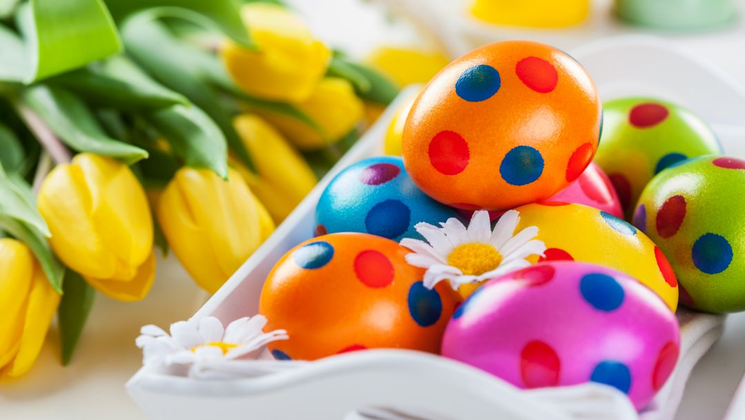 spring,Easter,Весна,цветы,eggs,colorful,tulips