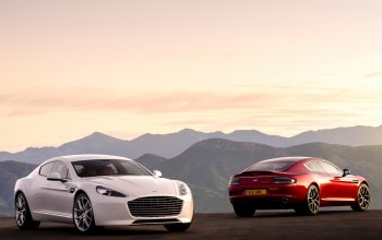 rapide s,Red,White,машины,две