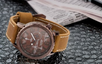 Watch,Leather,Jack pierre,brown