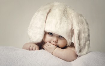 cute,Rabbit,Happy baby,Kid,Adorable,Easter,children,Hat,child,big beautiful blue eyes