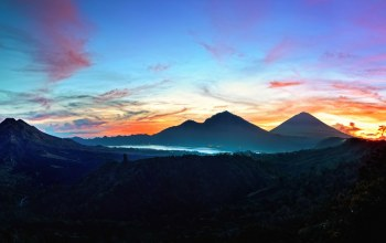 Sunrise at kintamani,indonesia,bali,Пейзаж