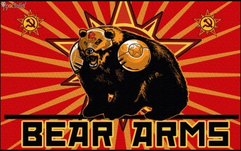 Медведь,star,серп и молот,bear arms,red alert 3,Red