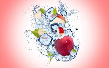 apple,drops,ice,background,капли,яблоко,Вода,water