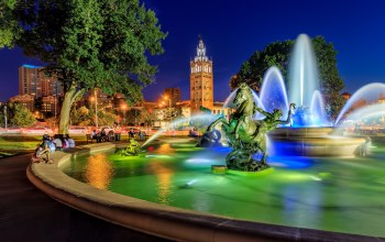 missouri,kansas city,country club plaza,Jc nichols memorial fountain,канзас-сити