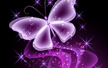 glow,Purple,неоновая,Butterfly,Abstract,sparkle