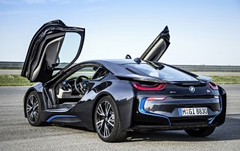 Bmw,back,sky,future,lambo door,i8,Road