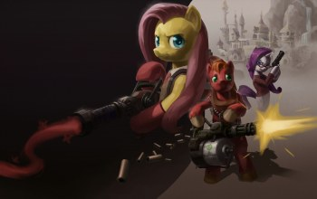 rarity,mlp,fluttershy,My little pony,team fortress,big macintosh
