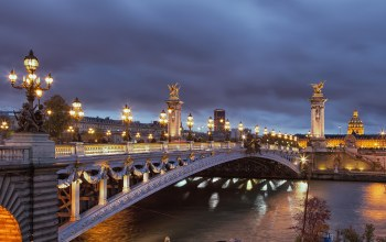 the the romantic city,nights,paris,lights,france,seine river,pont alexandre iii bridge