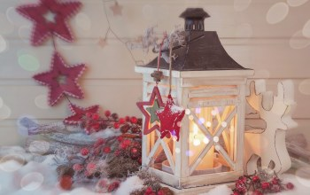 merry christmas,snow,cherry,star,lantern,reindeer toy