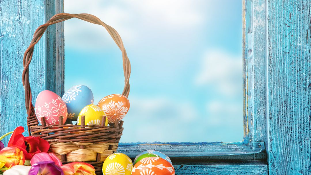 basket,Easter,яйца,happy,decoration,tulips,цветы,spring,eggs