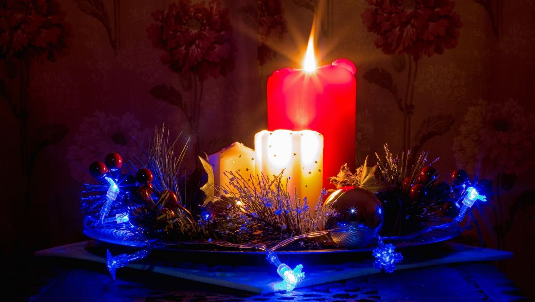 decorations,candles,long exposure