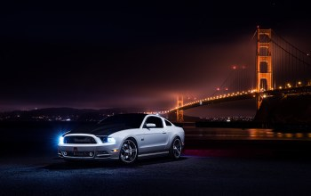 Muscle,car,bridge,Collection,nigth,White