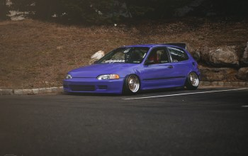 Honda civic,stance. хонда,цивик,Purple