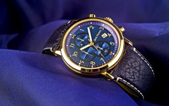 fabric,blue,Gold,Watch