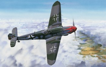 drawing,war,german fighter,bf 109,ww2,painting