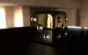 The cube gold,Abstract,3d image,headwitcher
