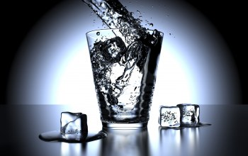 water,glass,ice,blue