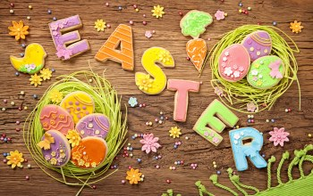colorful,eggs,pastel,spring,decoration,cookies,wood,Easter,sweet,holiday,letters