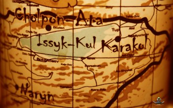 issyk-kul,map,kyrgyz republic, cholpon-ata,карта,иссык-куль