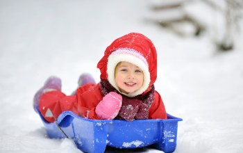Little girl,christmas,рождество,child,winter,happy,sleigh,children