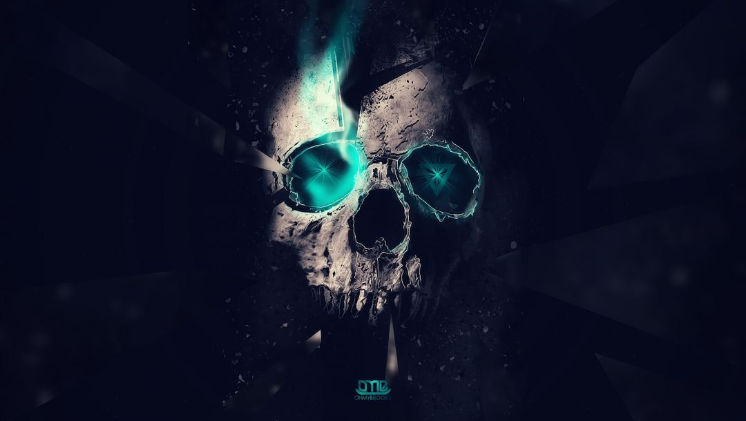 Abstract,Skull,1920x1080,minimalism,dark