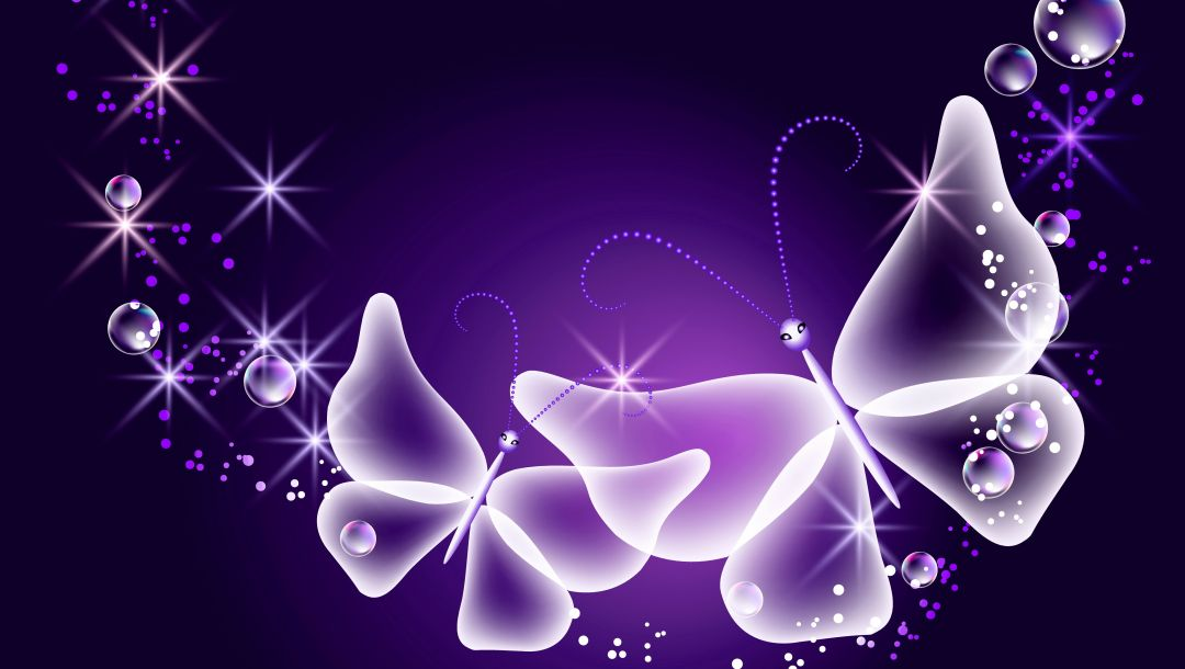 sparkle,Abstract,Purple,butterflies,glow,неоновые