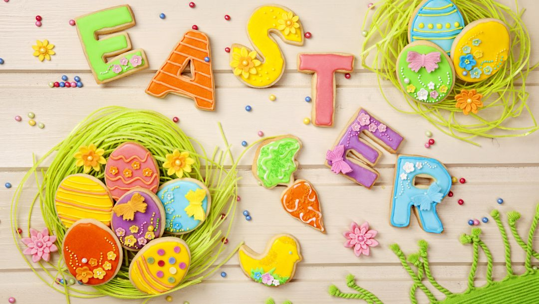 Easter,colorful,pastel,decoration,holiday,eggs,cookies,sweet,letters