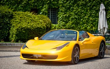 paul rodrigues,Spider,cabriolet,yellow,458,supercar