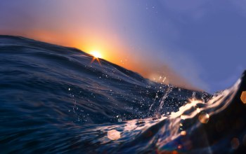 beautiful sunset scene,water,Sea wave ,splash,landscape