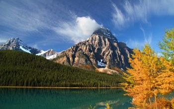 canada,банф,Mount chephren,alberta,Lower waterfowl lake,howse peak
