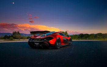 Mclaren,orange,volcano,death,hypercar,Exotic,extra,supercar,Sunset,Road,valley