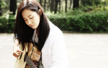 guitar,asian,Music,korean,kpop,outside,outdoor,singer,girls generation,girl,Snsd