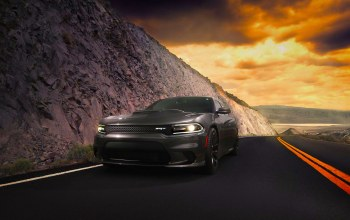 charger,car,2015,hellcat,american,route,dodge,clouds