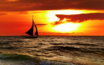 beautiful,Boracay,sky,clouds,sailboat,tropical,landscape,scenery sunset