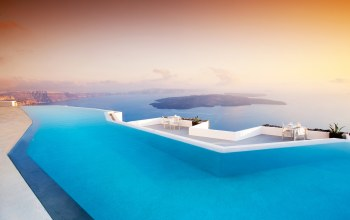 отель,santorini,греция,Pool,greece,бассейн